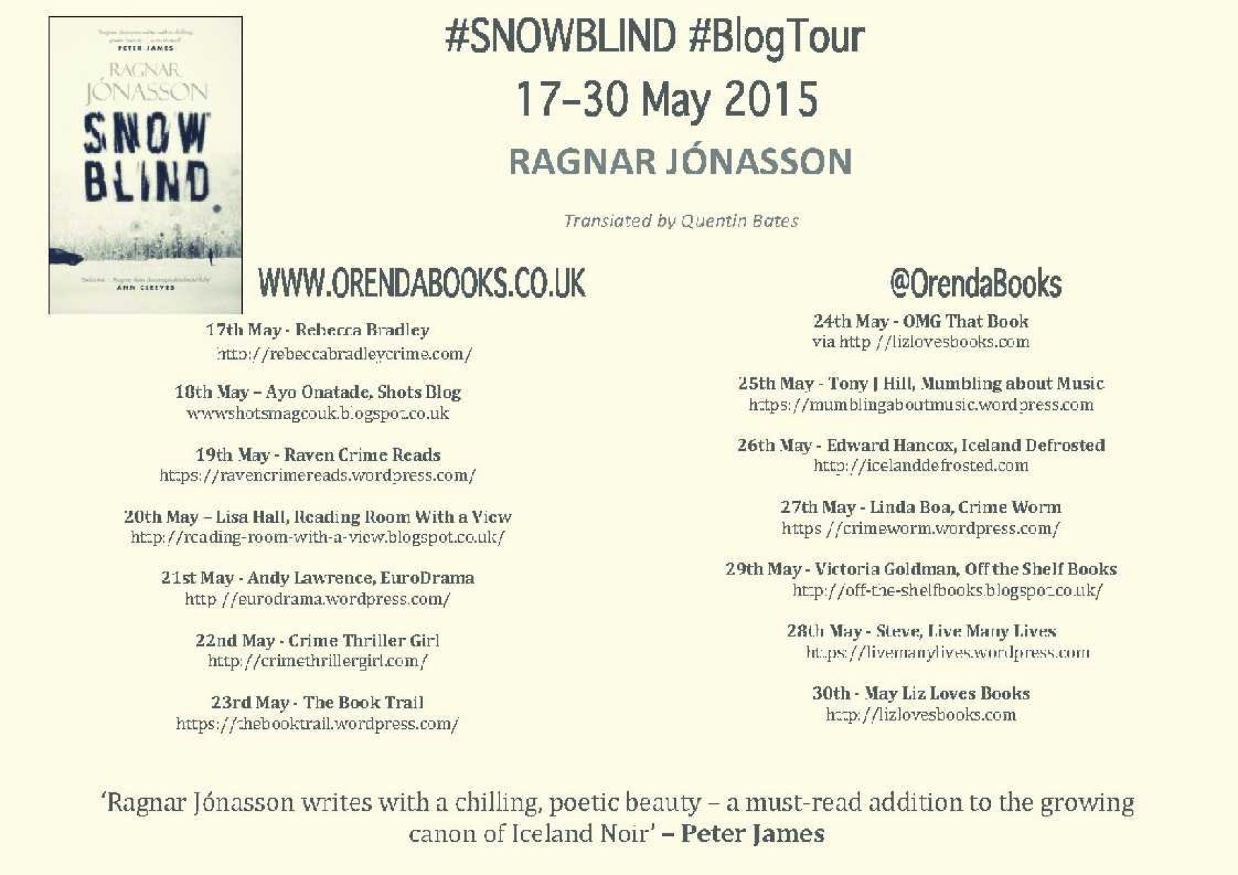 What's Your First Draft Like? – Ragnar Jonasson (Blog Tour Special!)
