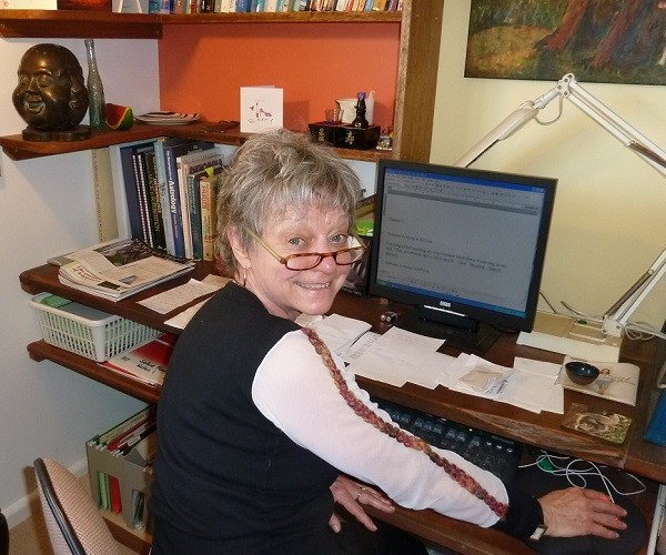 Virignia King at her Desk