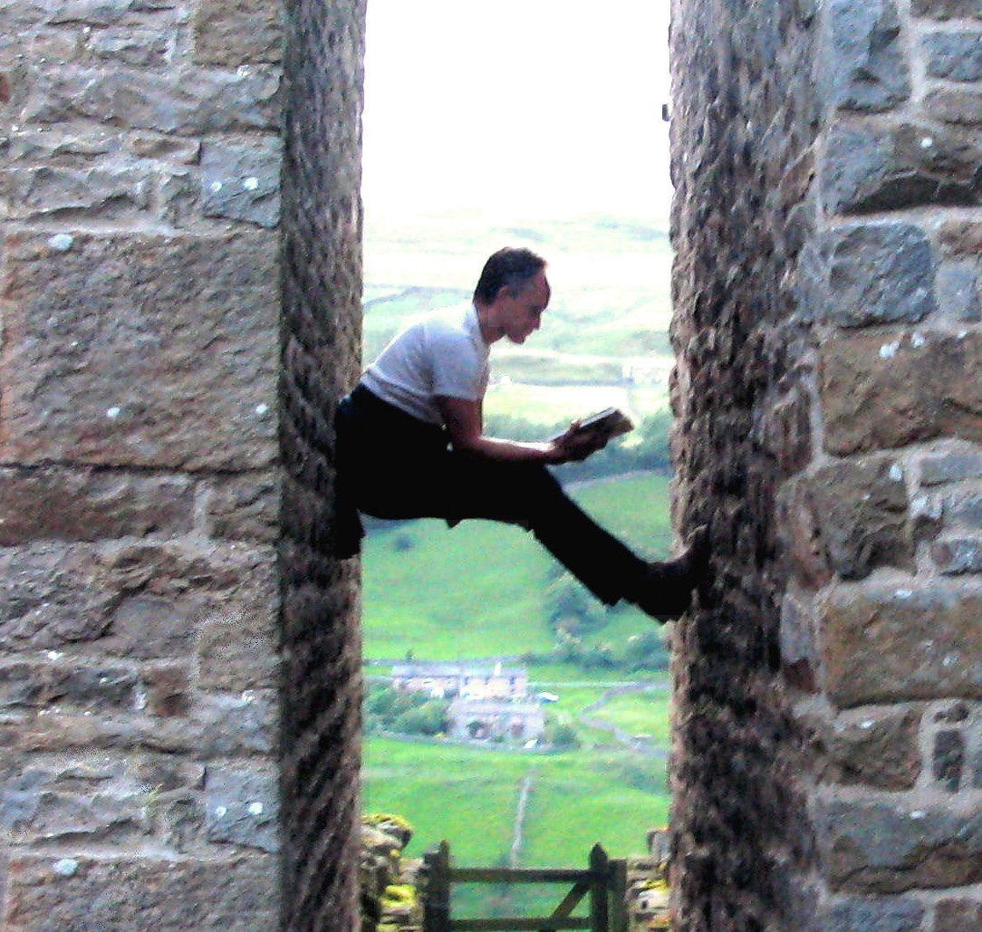 Harry working flexibly.